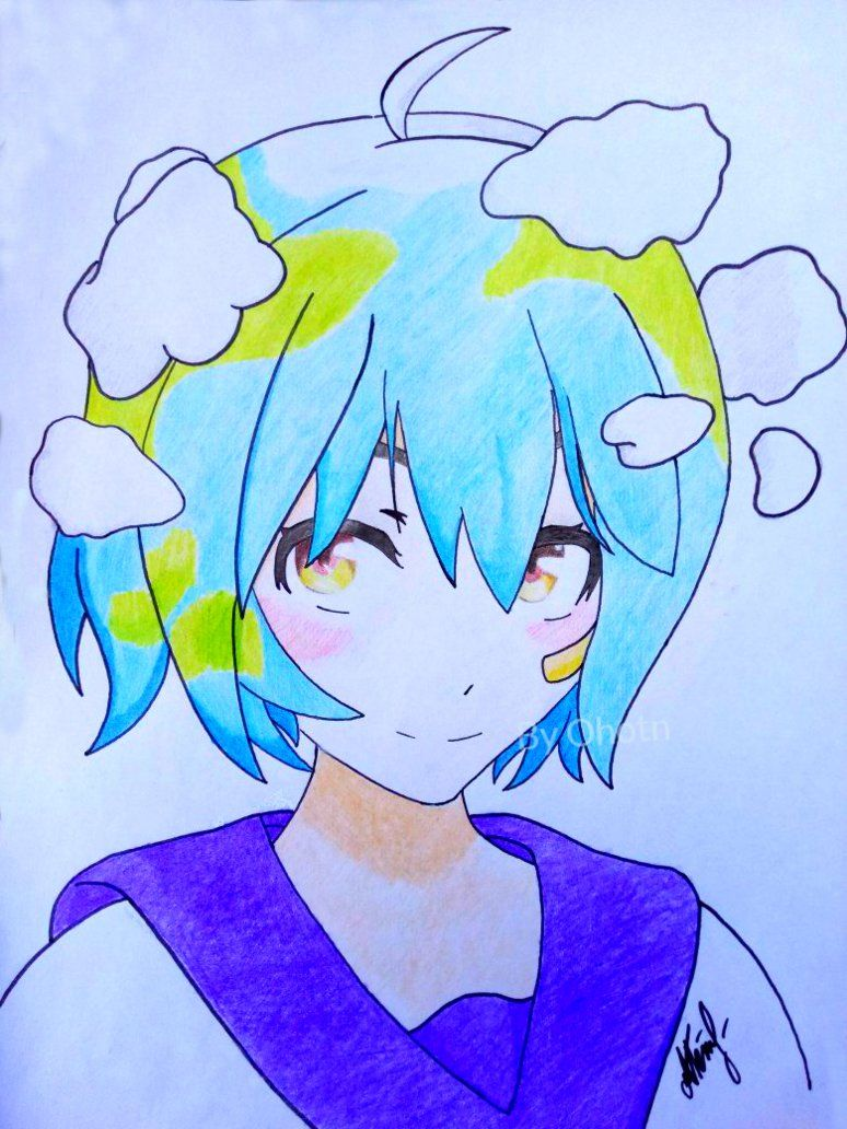 Earth Chan By Ohotn Sweet Drawings Anime Mother Nature