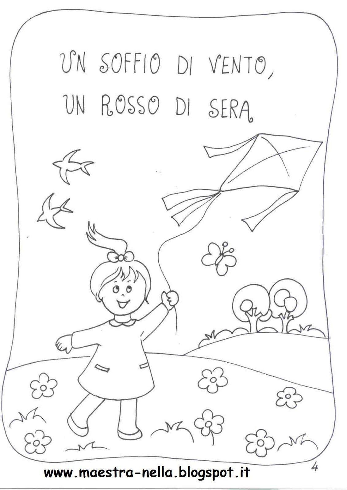 Maestra nella primavera poesia illustrata piccolini for Lavoretti estate scuola dell infanzia