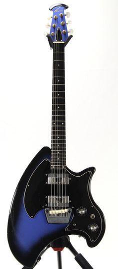 ovation breadwinner in blue burst custom refinish guitars and basses guitar bass ukulele. Black Bedroom Furniture Sets. Home Design Ideas