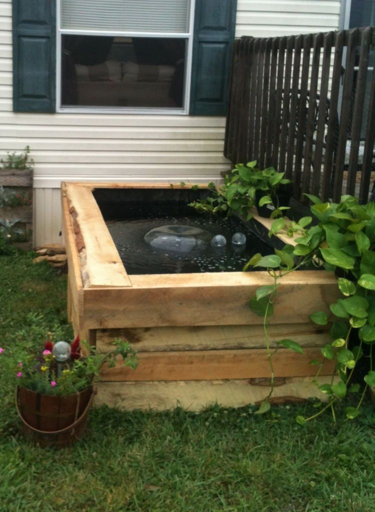 My DIY  saw mill wood raised pond, love it, turned out better than I thought