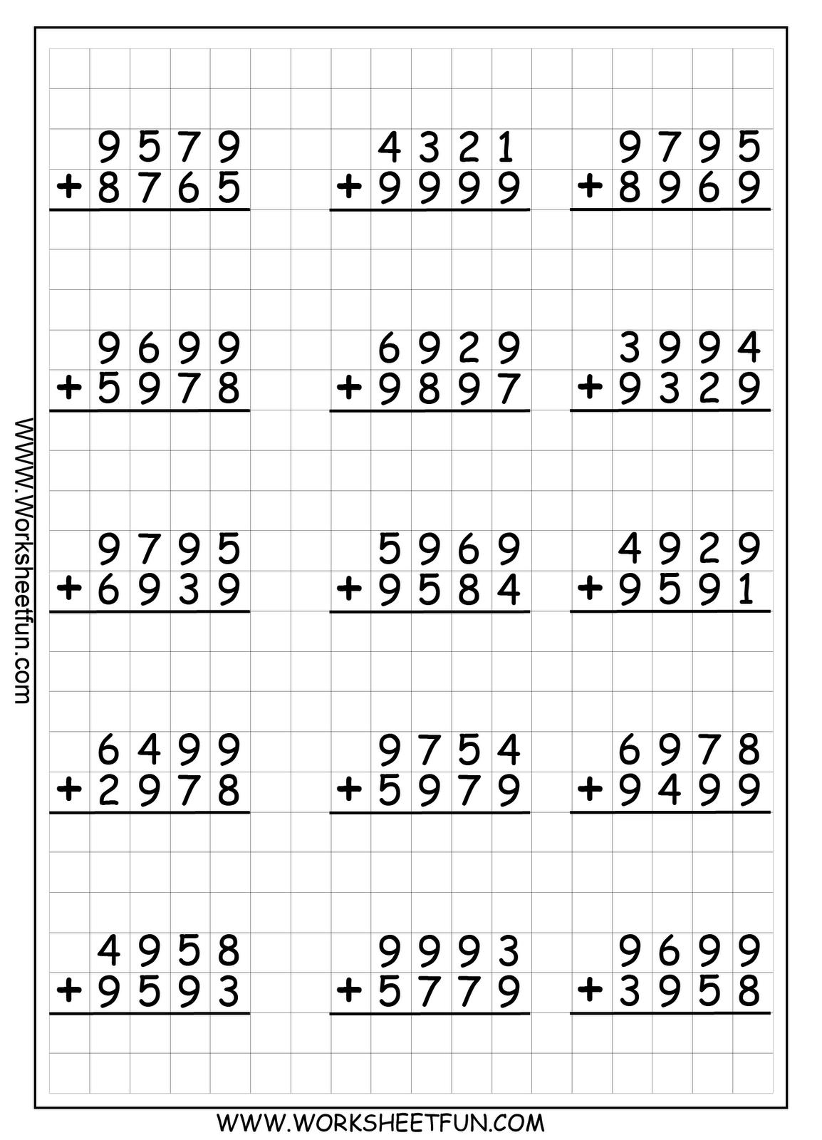 4D+R+Addition+WS+1.png 1,154×1,600 pixels | School Ideas- Math ...