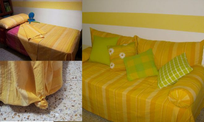 Convertir cama en sof decoraci n pinterest sof - Decorar cama como sofa ...