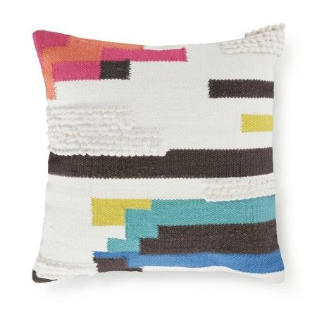 Www Target P Cream Color Block Square Throw Pillow 18 X18 Threshold A 51594784
