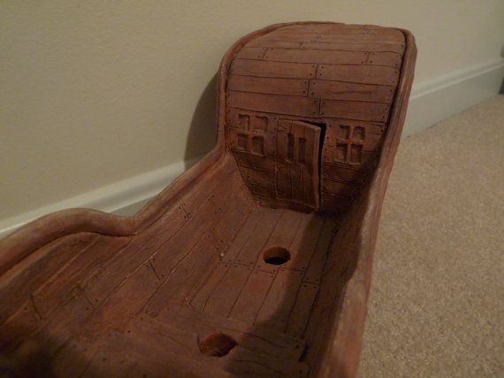 Clay Pirate Ship Sculpture by JoePortfolio on Etsy, $501.00