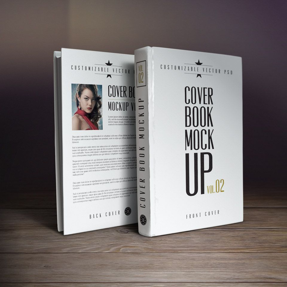 10 Book Cover PSD MockUp Templates | book | Pinterest
