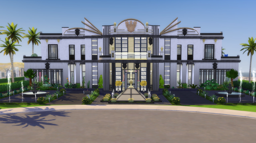 Pin By Austin Baker On Sims In 2020 Sims House Design Mansions Art Deco Buildings