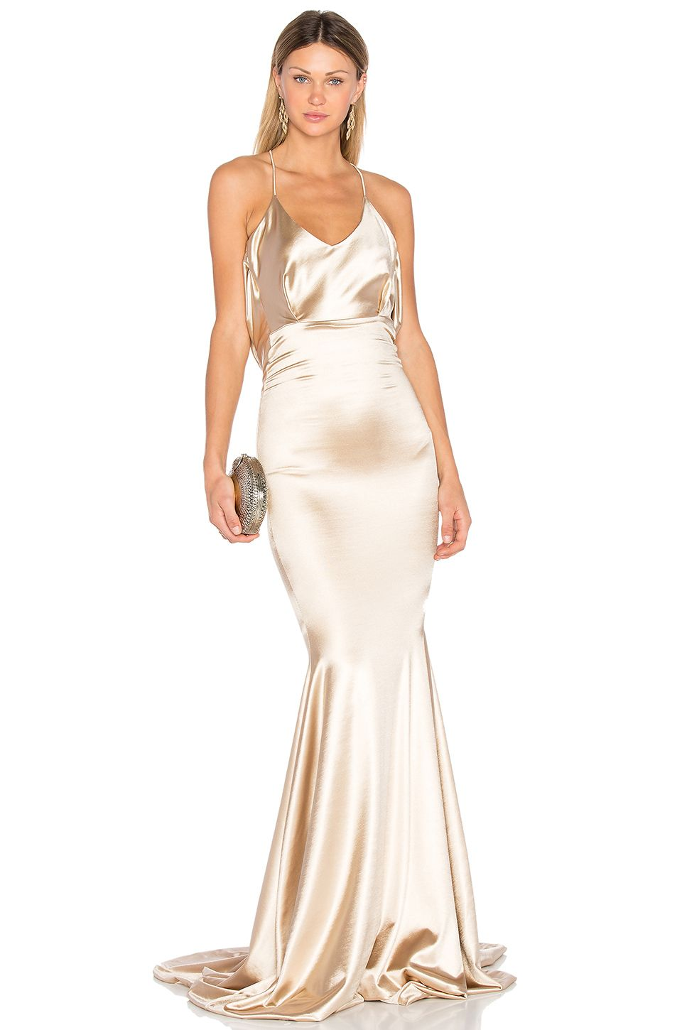 Gemeli Power Barthelemy Gown in Light Champagne Gold | REVOLVE ...