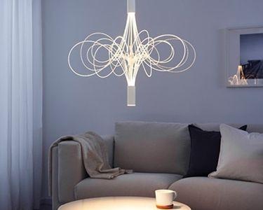 Risultati immagini per lampadari soggiorno | Illuminazione interna ...