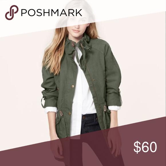 ZARA | army green utility cargo jacket