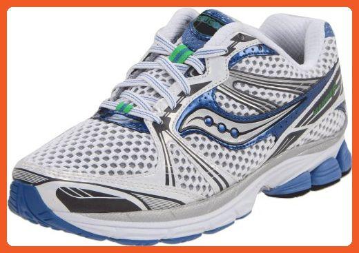 181858676fb0b Saucony Women's Pro Grid Guide 5 Running Shoe,White/Silver/Blue,6.5 ...