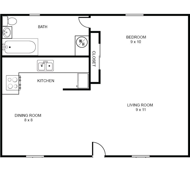 Efficient Kitchen Floor Plans: La Ramona Morales Apartments In Benson Arizona
