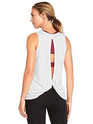 6e91f64a3db2e Bestisun Womens Sexy Yoga Tank Top Running Clothes Sleeveless Open Back  Workout Sport Shirt Casual Tshrit White L -- You can find out more details  at the ...