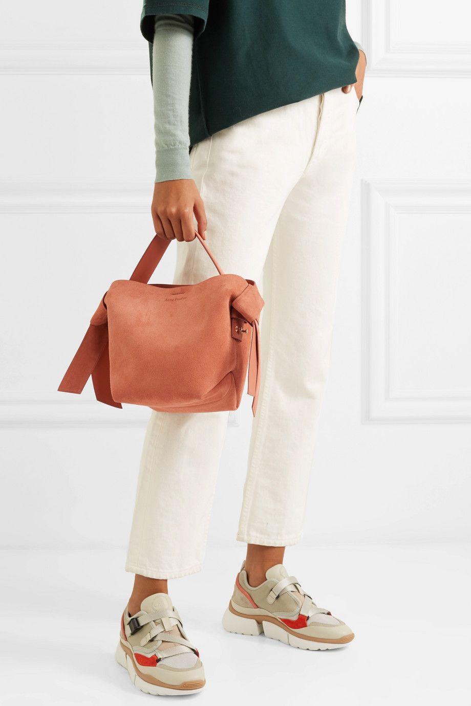 Musubi Mini knotted suede shoulder bag | Acne studios bag