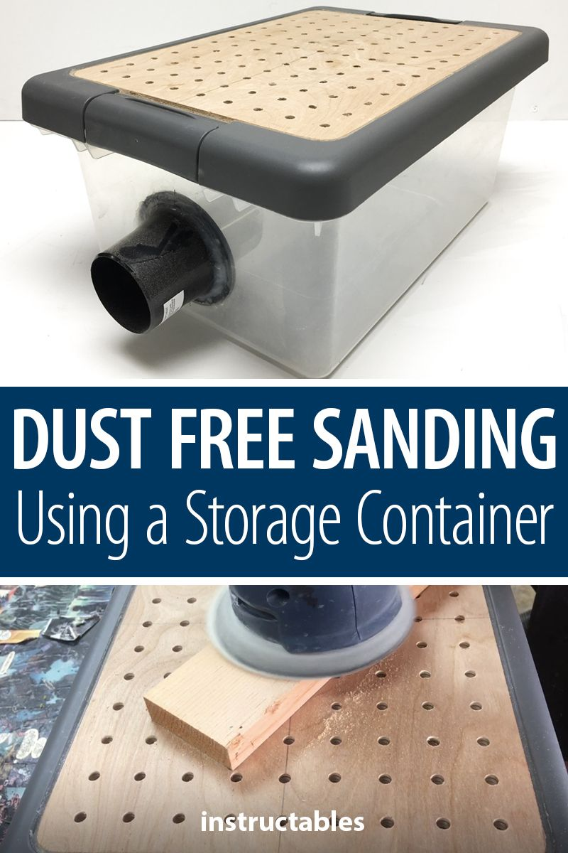 Dust Free Sanding Using a Storage Container #garageideas
