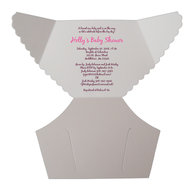 Free Baby Diaper Invitation Template | Damask Pink Baby Shower ...