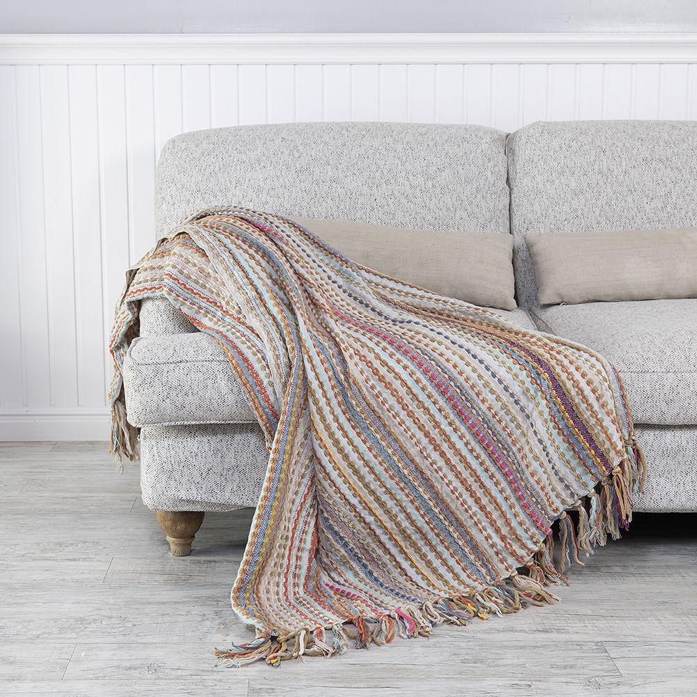شال كنب لون بيج غامق Throw Blanket Sofa Blanket