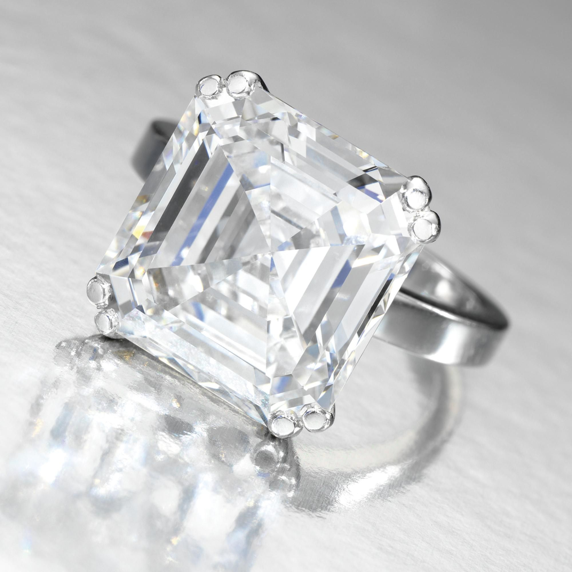 single estimated flawless stock value ring asscher internally stone photo diamond cut