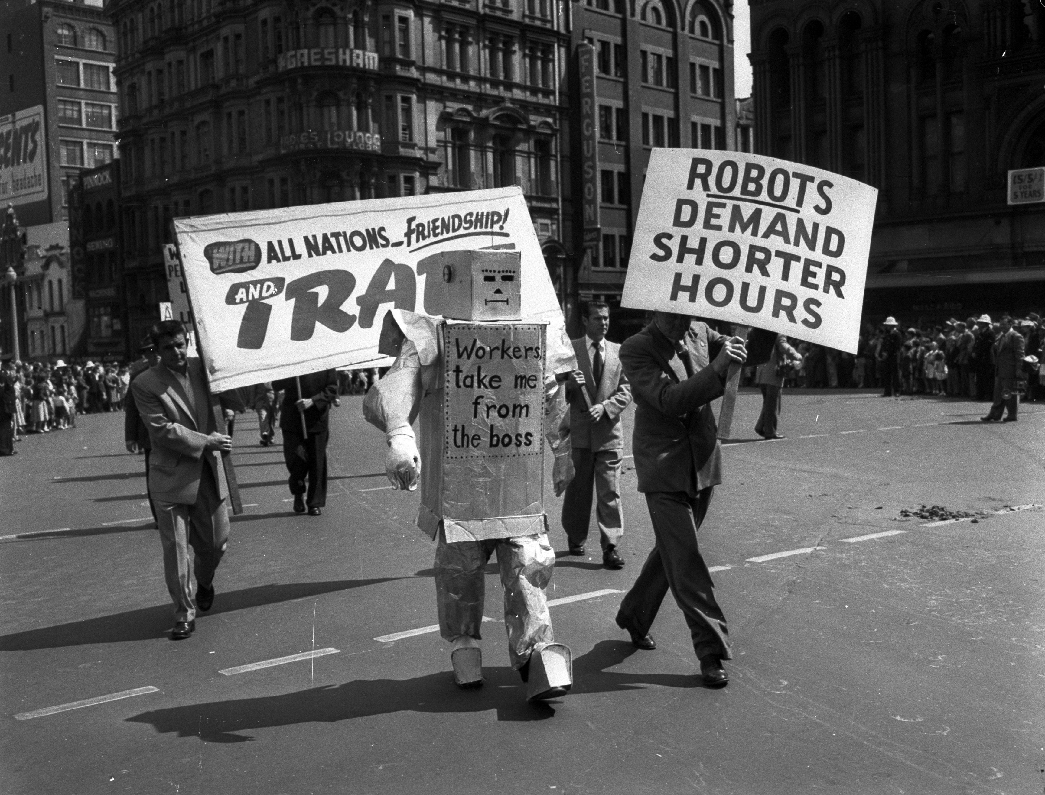 Eight hour day labour day march sydney 1 october 1956