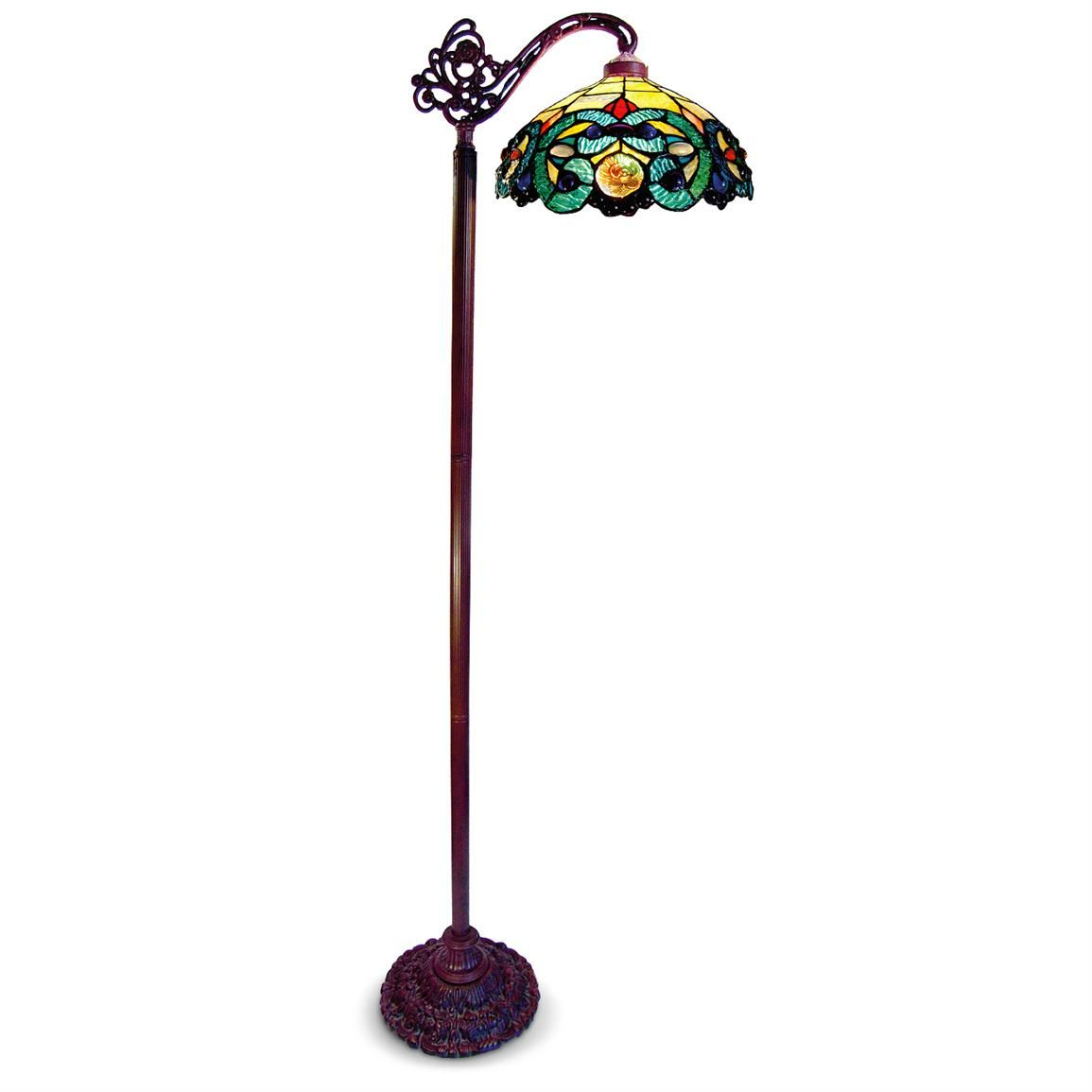 Tiffany style side arm stained glass floor lamp home decorating tiffany style side arm stained glass floor lamp aloadofball Choice Image
