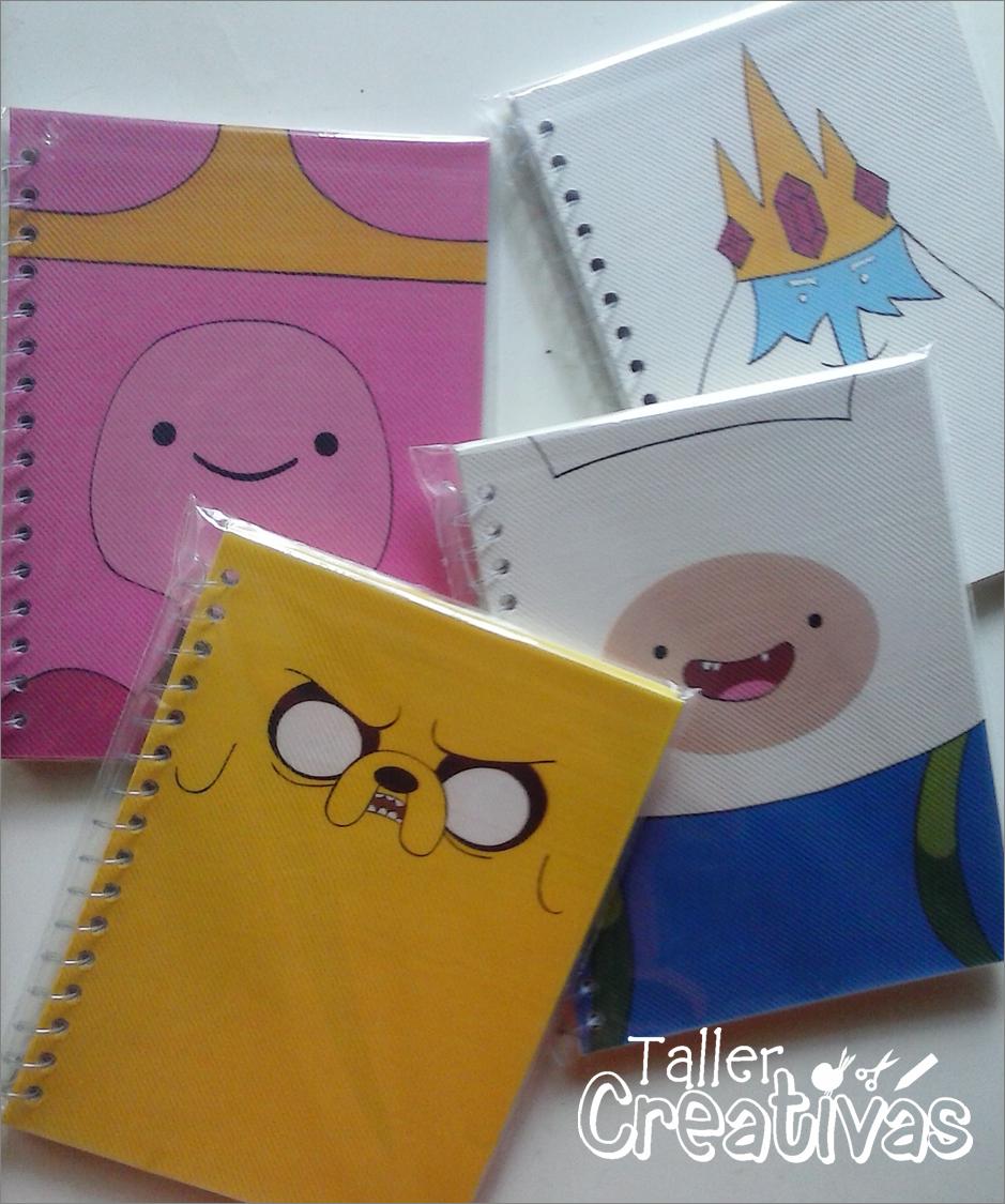 Libretas Adventure Time, pintadas a mano