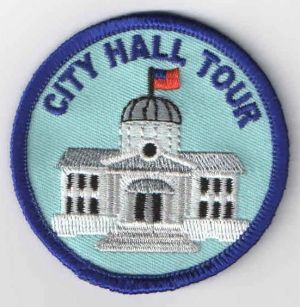 """City Hall Tour Fun Patch 0.69 - Tie into Girl Scout Daisy Petal: """"Respect Authority"""""""
