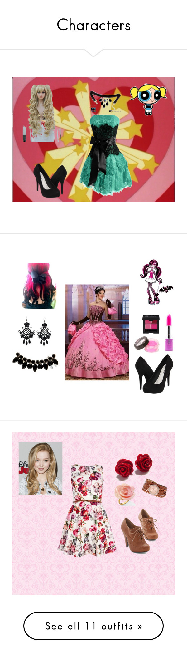 """Characters"" by marz-kij00 on Polyvore featuring Michael Antonio, bubbles, PowerpuffGirls, Accessorize, Lime Crime, Quiz, XOXO, Miso, Coast and Oakley"