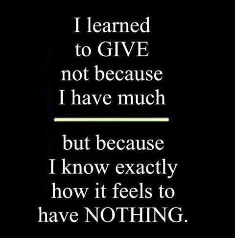 The meaning of Giving..