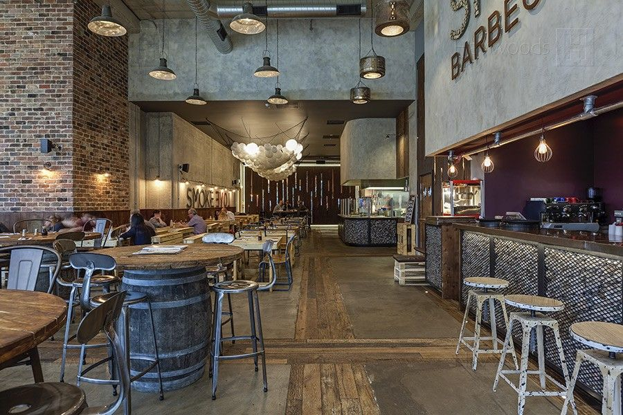 Smoke bbq restaurant sheffield engineered wood flooring