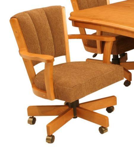Cr Joseph Swivel Tilt Adjustable Height Caster Dining Chair