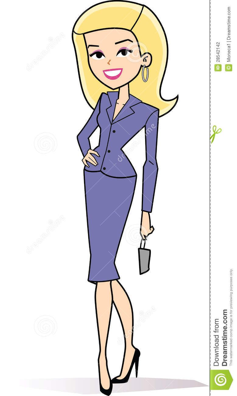 Female Blonde Business Clipart Stock Photography Cartoon Woman