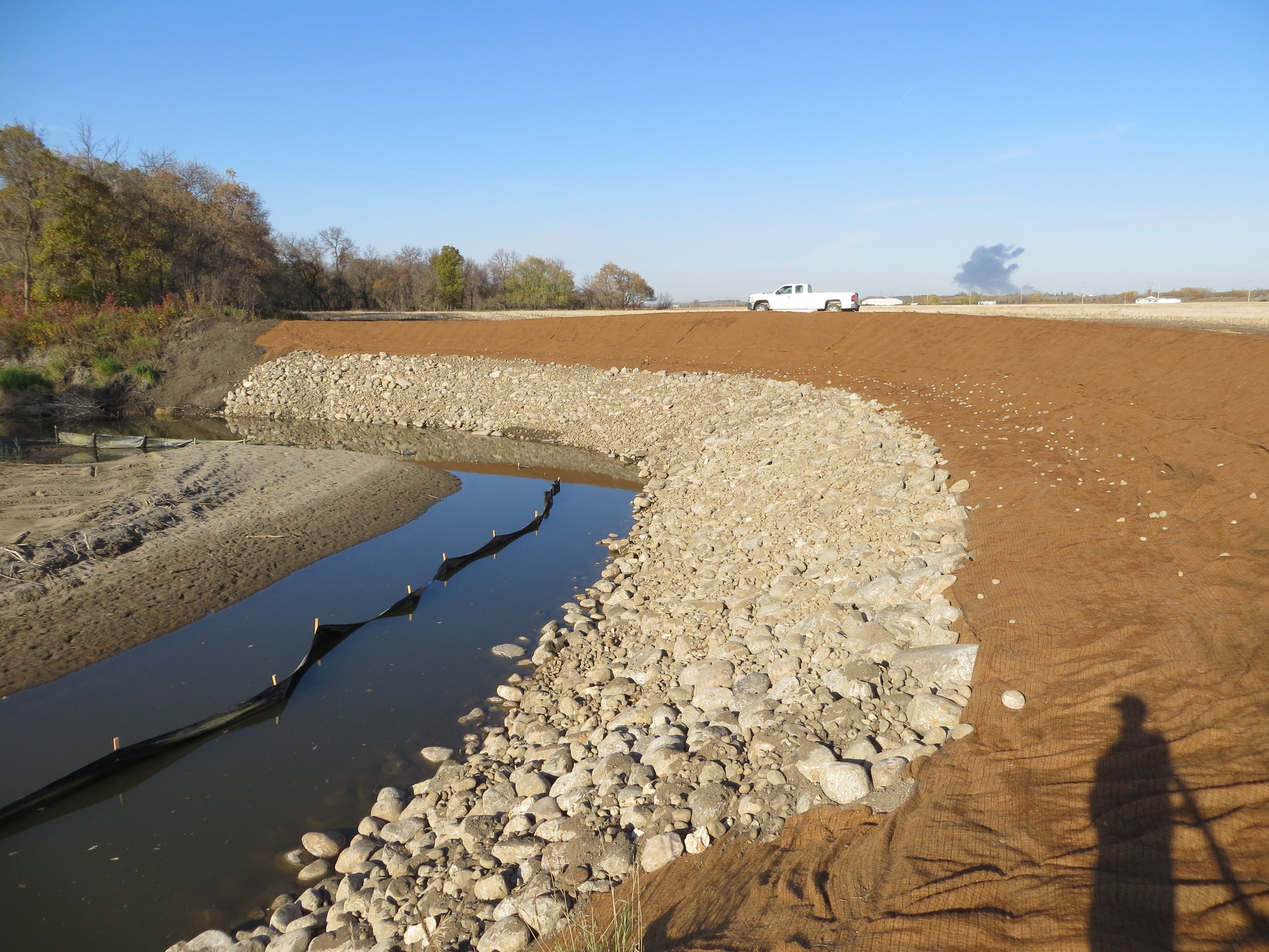 Bank stabilization project why prevent soil erosion for Soil erosion prevention
