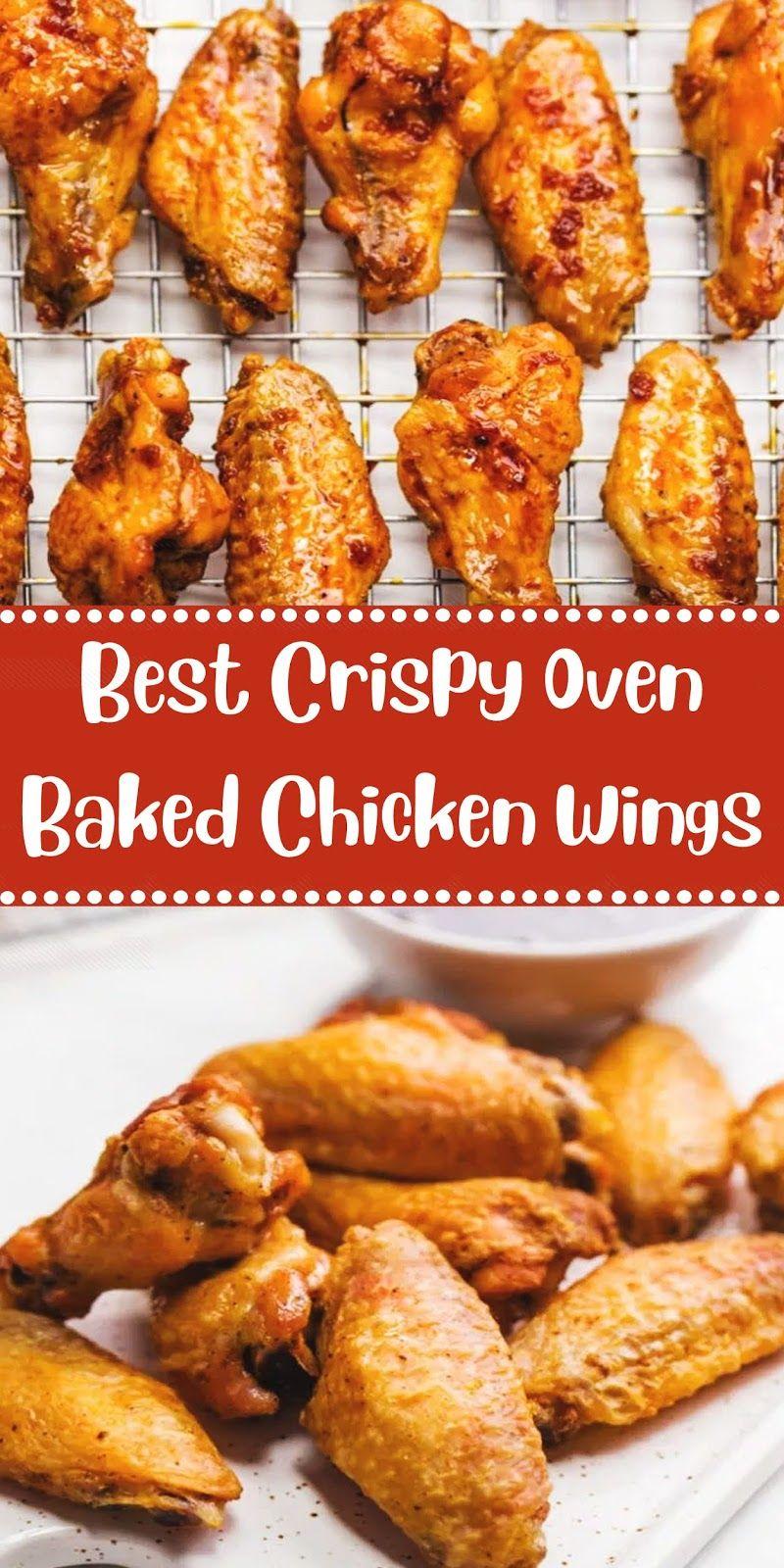 Best Crispy Oven Baked Chicken Wings In 2020 Baked Chicken Wings Baked Chicken Wings Oven Chicken Wings