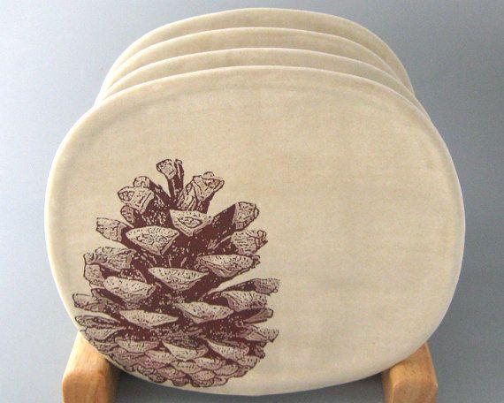 Pine Cone Snack Plates