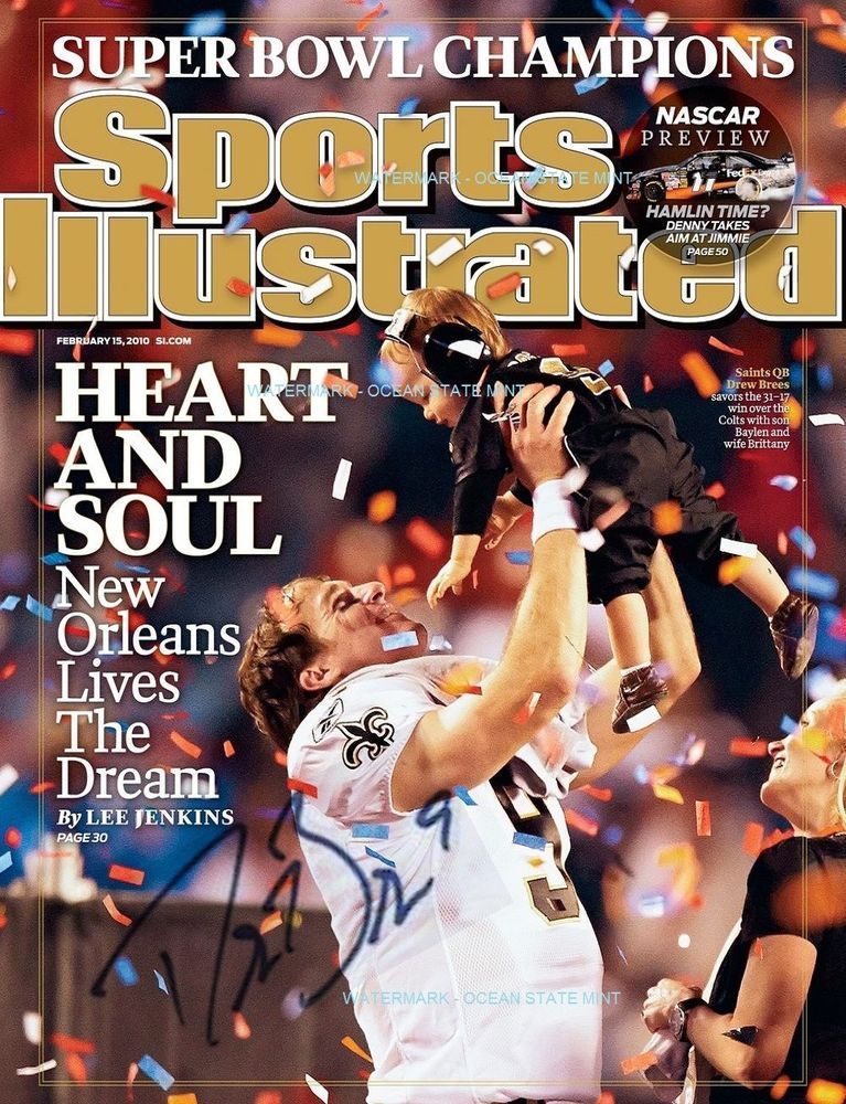 6d98cfed NEW ORLEANS SAINTS-Drew Brees SI FEBRUARY 2010 SUPER BOWL PHOTO ...