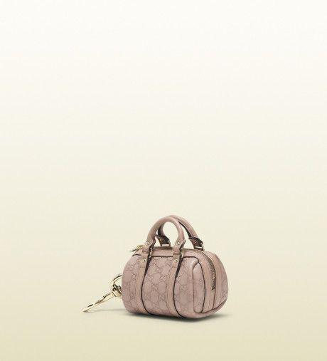 Gucci Light Pink Micro guccissima Leather Mini Boston Bag Charm in Pink