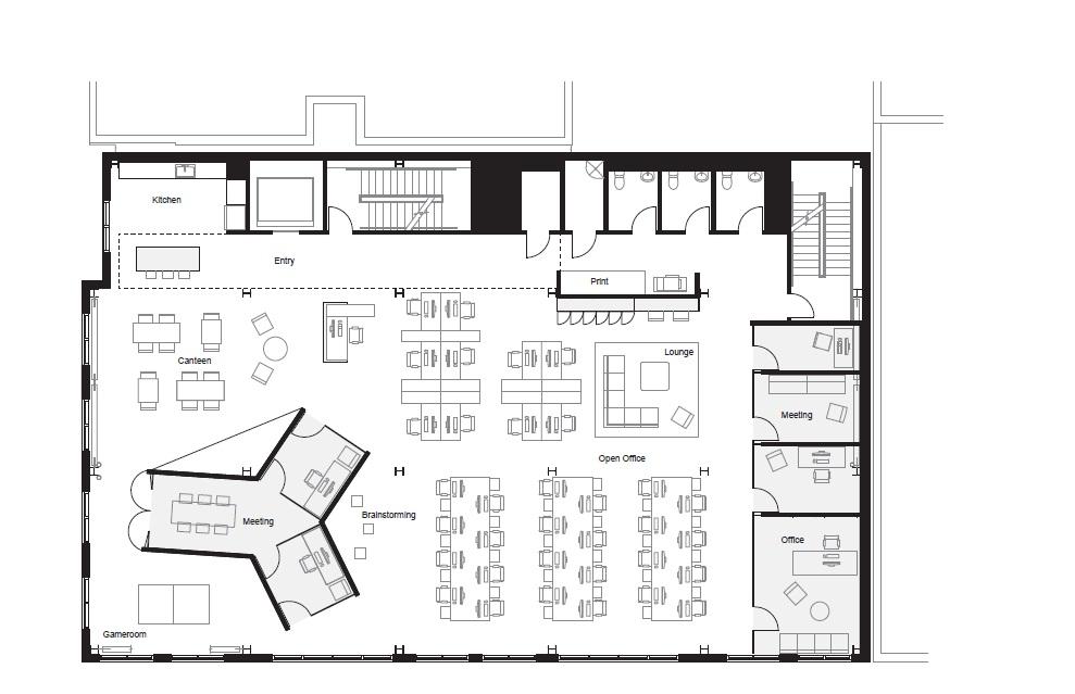Gallery of fine bora architects 12 planos planos de - Plantas oficina ...