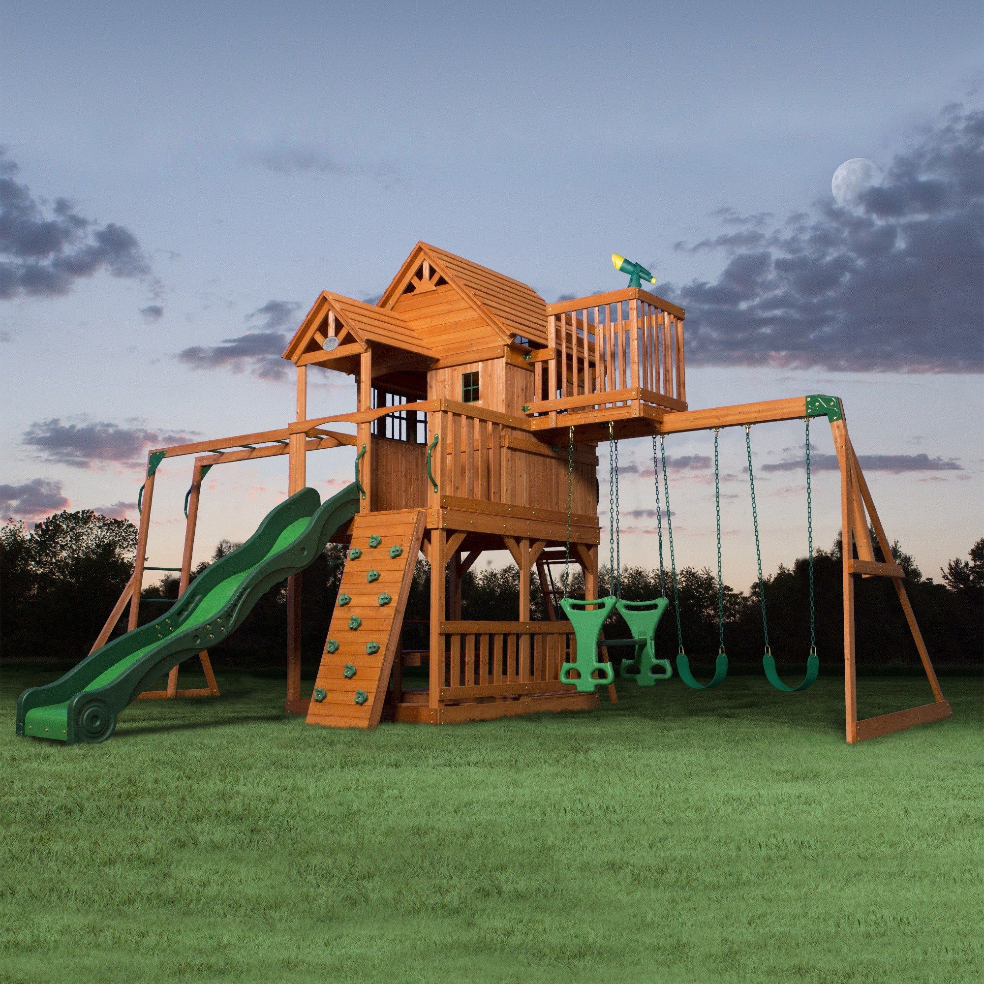 This Outdoor Playset Will Be The Kidsu0027 Favorite, With Its Raised Clubhouse Play  Fort