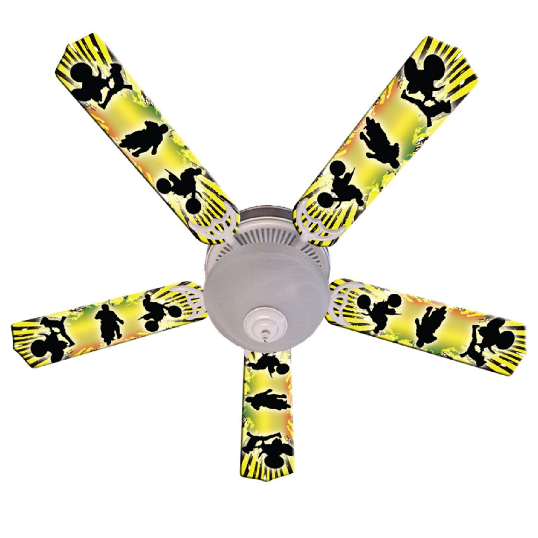 Ceiling Fan Designers Kids Baja MX Motocross Indoor Ceiling Fan