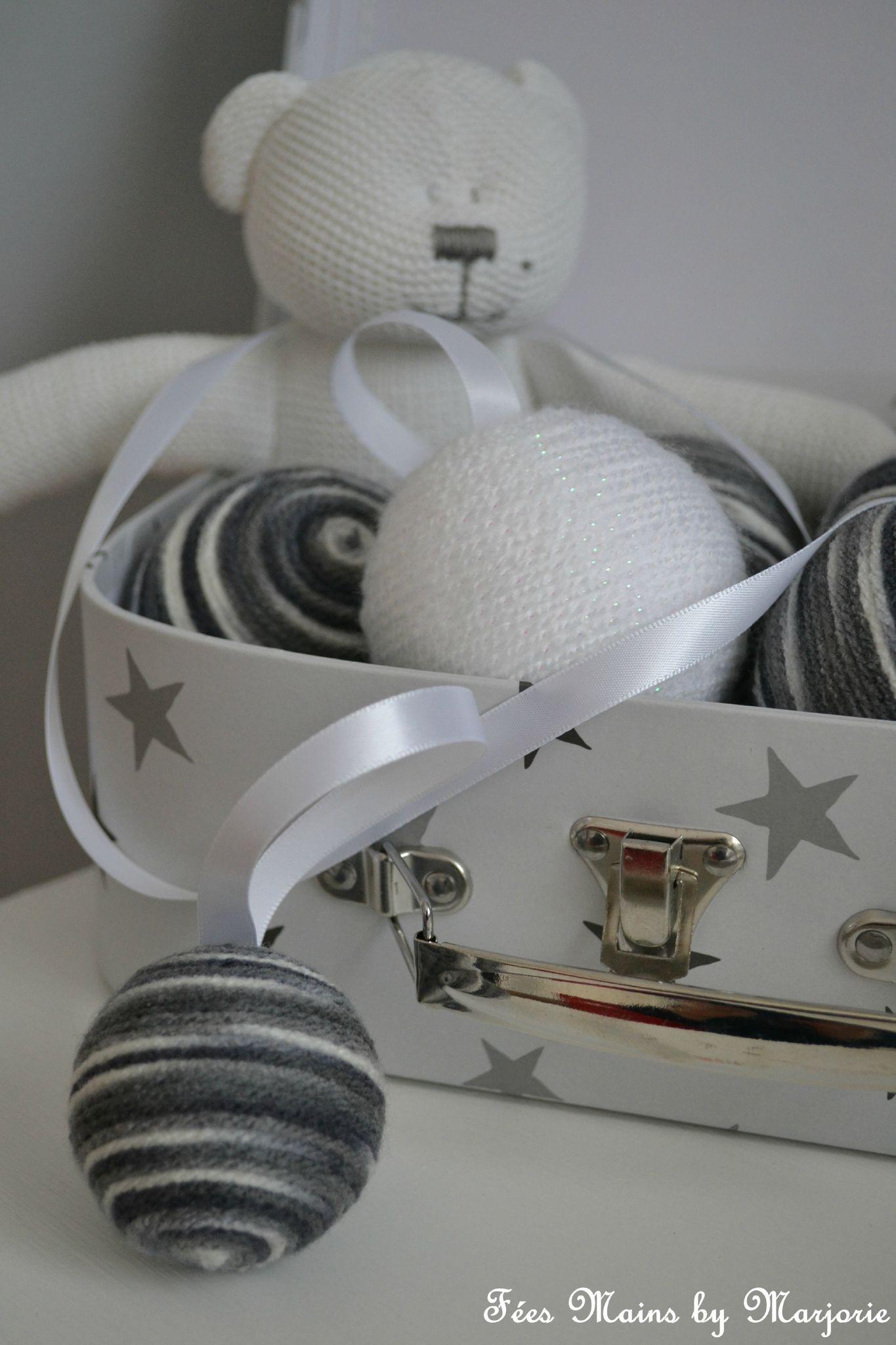 Boules Noël laine