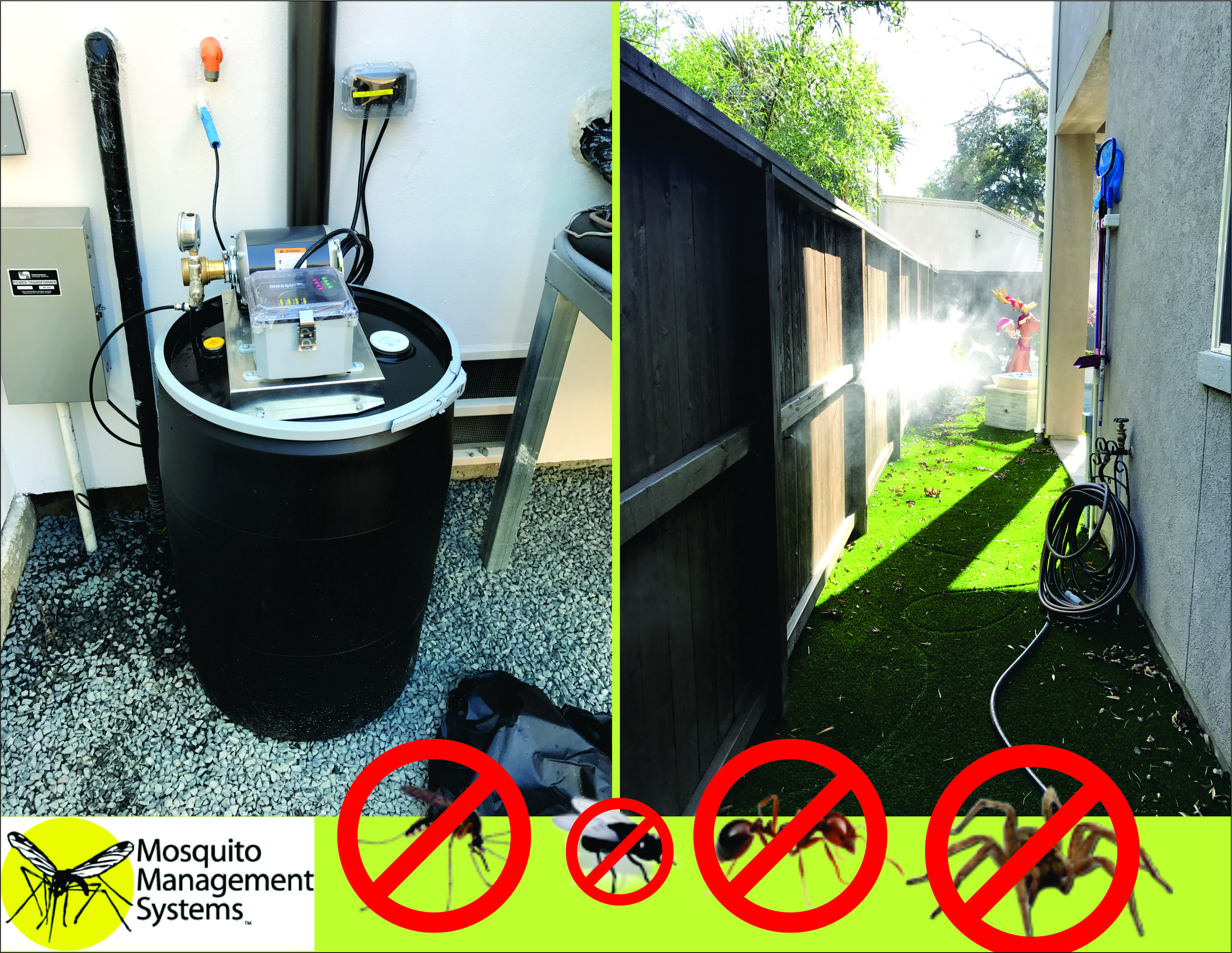 the mosquito pro insect misting system is perfect for around the
