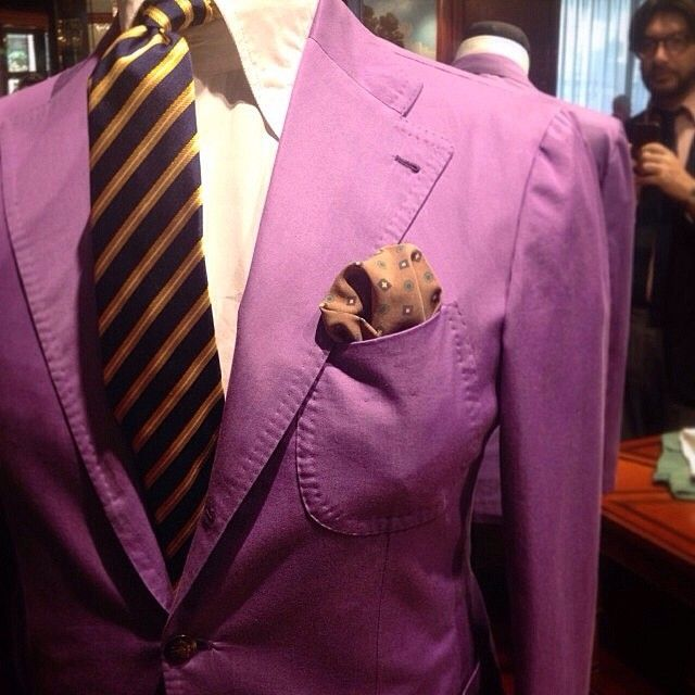 Details sprezzatura - PS is OK but don't like the tie with this colour jacket ! !
