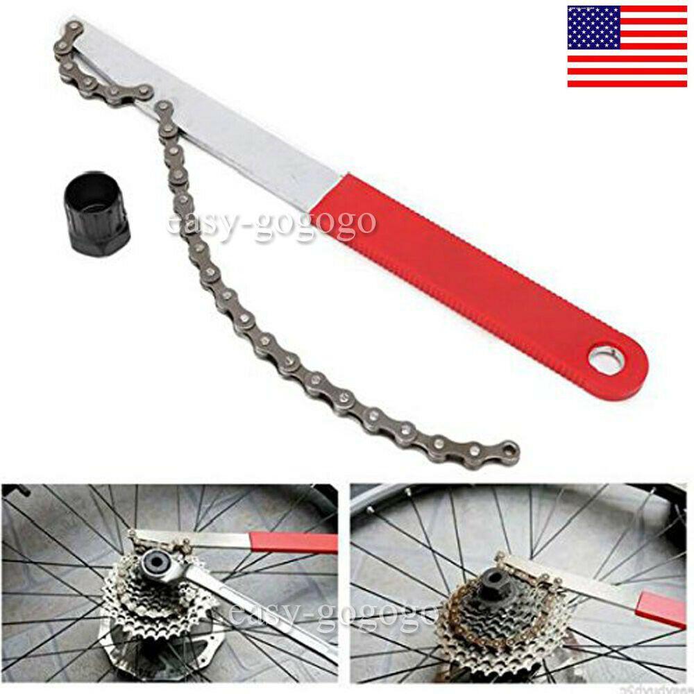 USA MTB Cycle//Bike Freewheel Chain Remover Tool Kit Cassette Whip Sprocket Lock