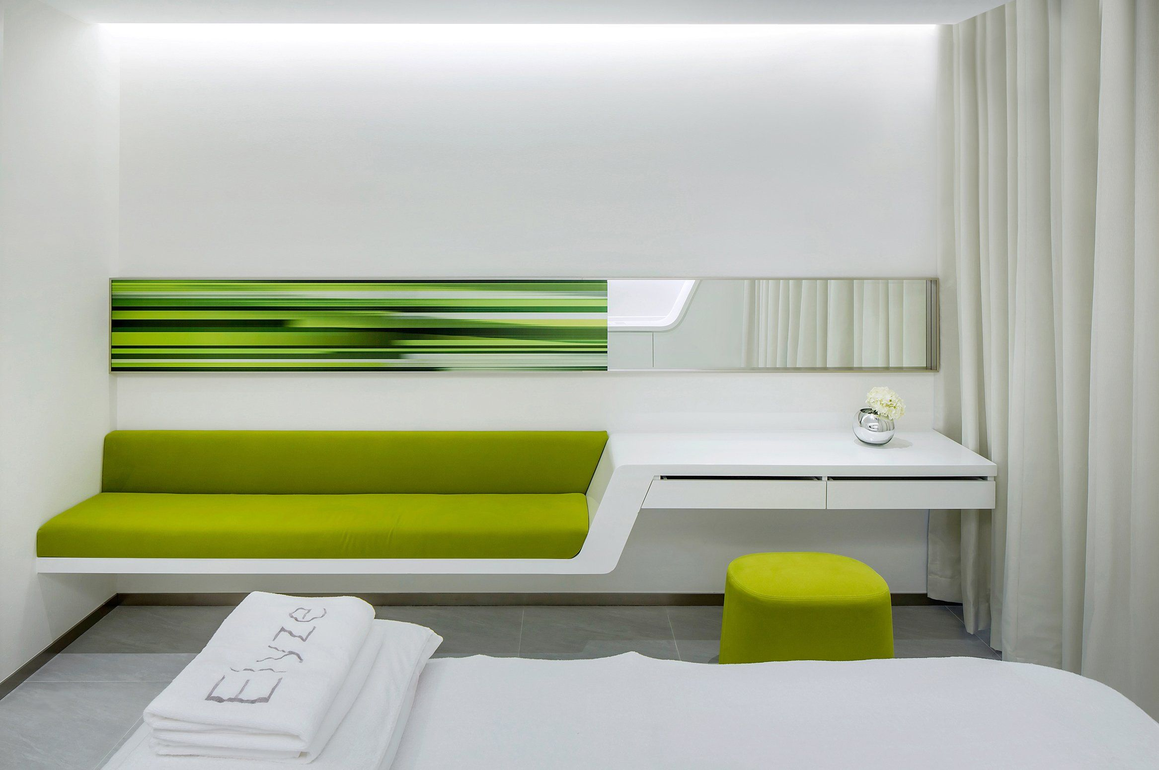 Office room design wide green office interior inspiration for your pleasure green sofa and puff for white treatment room