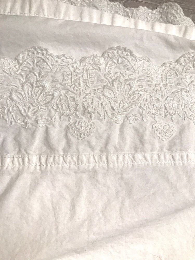 Simply Shabby Chic Woodrose White Twin Size Flat Embroidered Sheet Simplyshabbychic Shabbychic