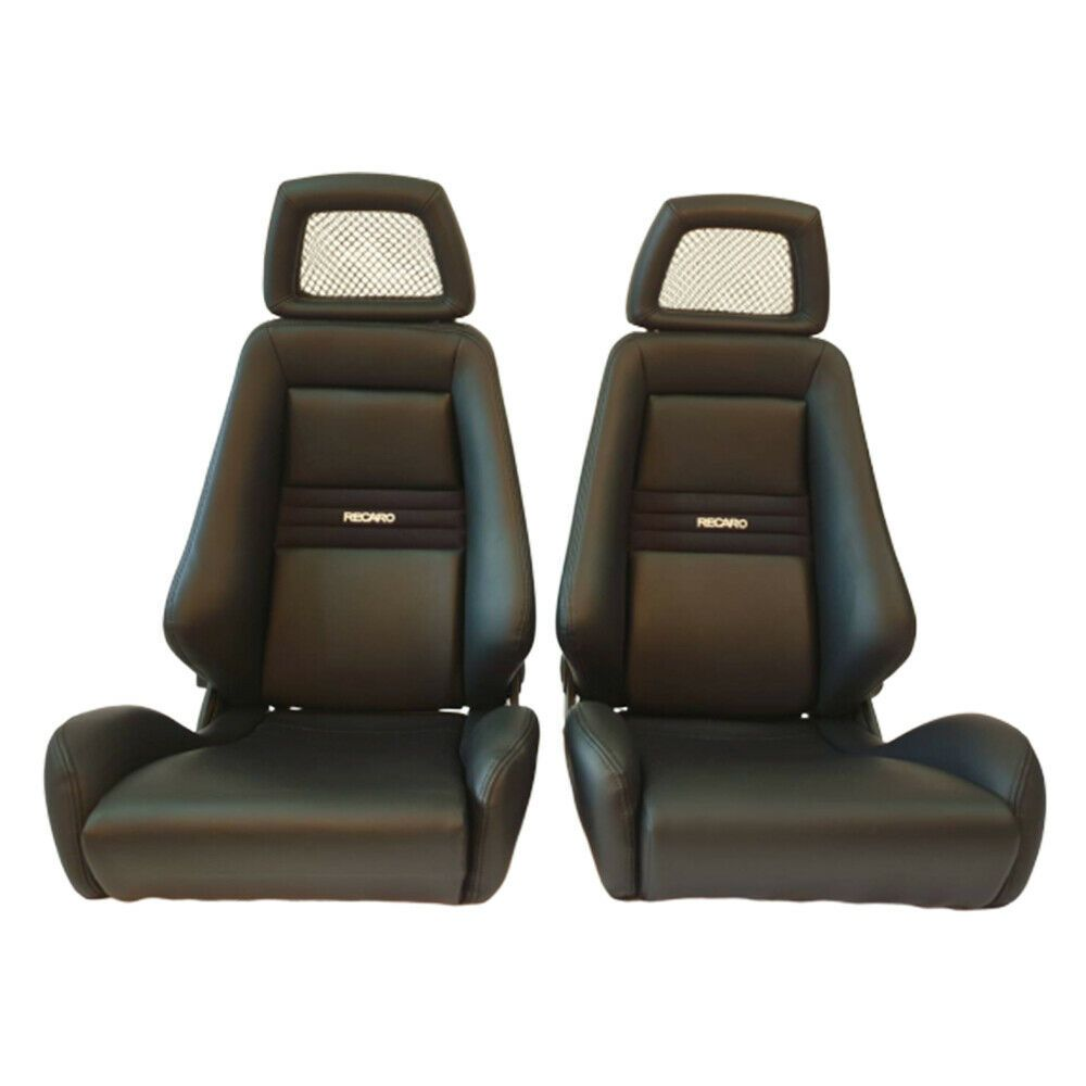 2 jdm recaro lx leather reclinable headrest racing