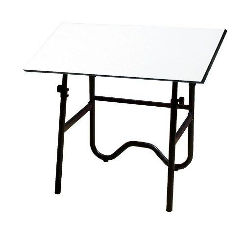 Onyx Melamine Drafting Table Frame Finish: Black, Size: 30 \