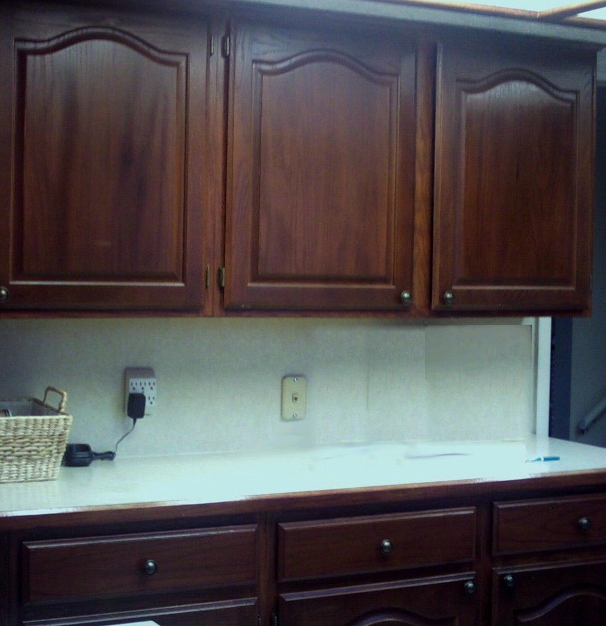Oak Cabinets Stained Dark