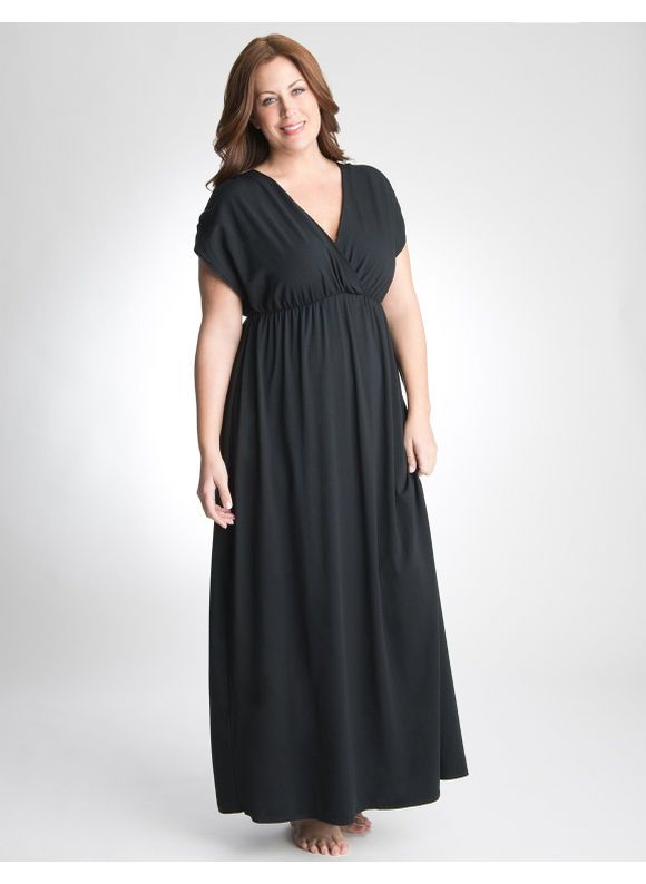 Lane Bryant Maxi dress swim cover up - Women's Plus Size/Black ...