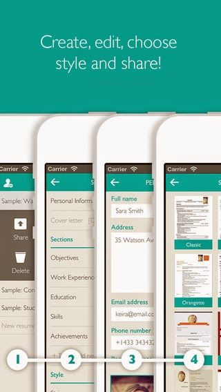 Resume Designer Pro - Mobile Curriculum Builder from Template with - resume maker app