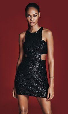 black sequined cutout mini dress from EXPRESS, Style# 7888770.... just arrived in my closet for the holidays :)